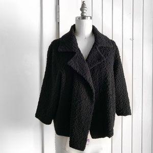 Eileen Fisher Black Textured Cardigan Jacket J1884